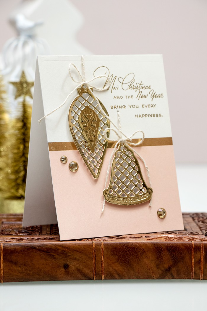 Spellbinders | Modern Holiday Card with Lattice Ornaments S3-222 dies. Video by Yana Smakula