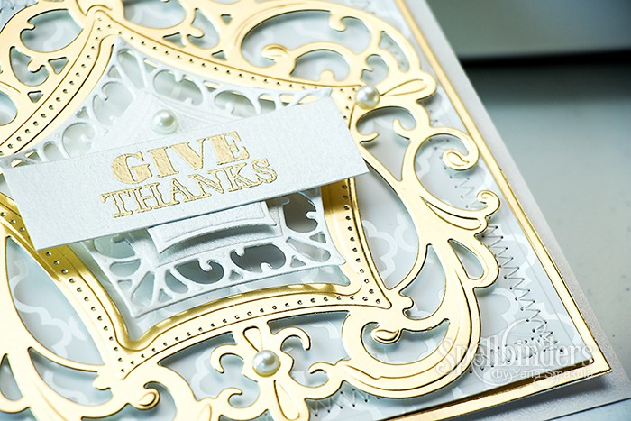 Spellbinders | Give Thanks Card using S4-565 Labels Forty Eight and S6-044 Label 48 Decorative Elements dies