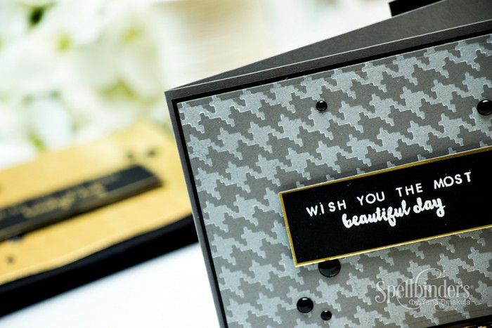 Spellbinders | CHAW16 Sneak Peak Blog Hop | Card using ⦁ S4-581 Houndstooth Texture Plate by Yana Smakula