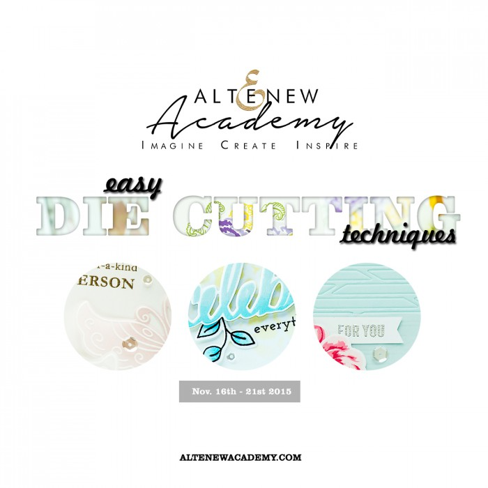 New Class: Easy Die Cutting Techniques with Altenew. Giveaway!