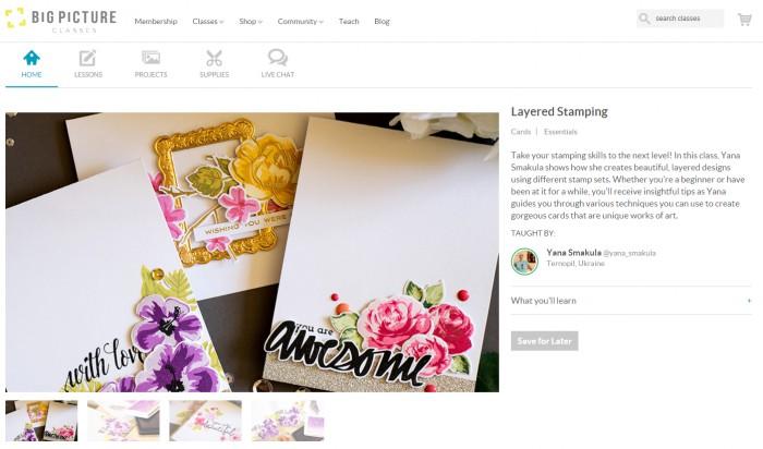 Big Picture Classes | Новий олнайн клас - Layered Stamping