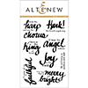 Altenew Lyrical Script Stamp Set
