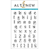 Altenew MODERN DECO ALPHA Clear Stamp Set AN209