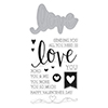 Hero Arts Stamp & Cuts LOVE Coordinating Stamp And Die Set DC175