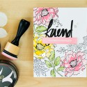 Altenew   Masked and Stamped Background with Beautiful Day stamp set. Video