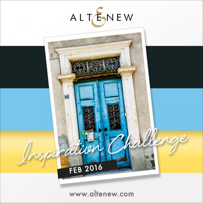 Altenew | February Inspiration Challenge. Video - easy wet watercol