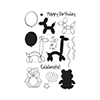 Hero Arts Clear Stamps BALLOON ANIMAL BIRTHDAY CL940