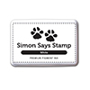 Simon Says Stamp Pigment Ink Pad WHITE INK039 Cold Hands Warm Heart