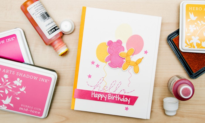 Hero Arts | Happy Birthday Balloon Animal Card