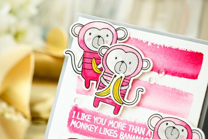 MFT Guest Designer| Monkey Valentine's Day Card