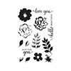 Hero Arts Color Layering For You Flowers Stamp Set CL944