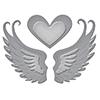 S1-004 Spellbinders D-Lites Love in Flight Etched Dies