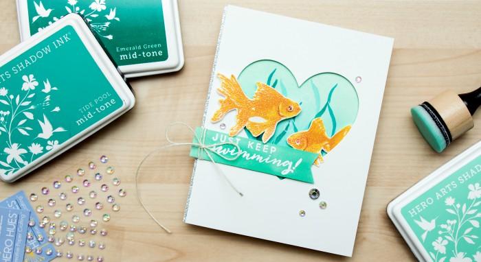 Hero Arts | Color Layering Sparkling Gold Fish. Video by Yana Smakula
