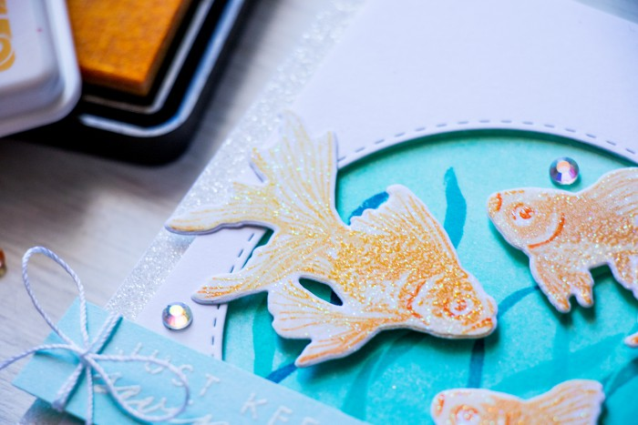 Hero Arts | Color Layering Sparkling Gold Fish. Video by Yana Smakula