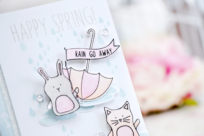 Simon Says Stamp   Happy Spring - Soft Pastel Watercoloring using Prima Water Soluble Oil Pastels. Card by Yana Smakula