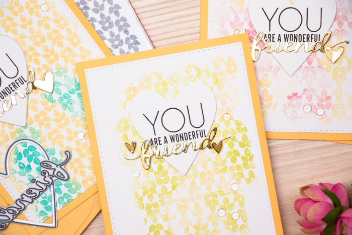 Simon Says Stamp | Two color background inking - friendship card. Video