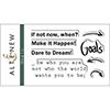 Altenew GOALS Clear Stamp Set