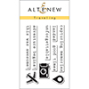 Altenew TRAVELING Clear Stamp Set