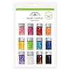 Doodlebug CHUNKY SUGAR COATING GLITTER 12 Colors Sparkle Embellishment