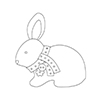 Simon Says Stamp PLUSH BABY BUNNY Wafer Dies S362 Spring Plush
