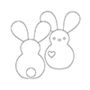 Simon Says Stamp PLUSH BIG EAR BUNNY Wafer Dies S361 Spring Plush