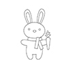 Simon Says Stamp PLUSH CARROT BUNNY Wafer Dies S359 Spring Plush