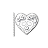 Simon Says Stamp PLUSH CHARMED HEART Wafer Dies S377 Spring Plush