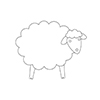 Simon Says Stamp PLUSH COUNTRY SHEEP Wafer Dies S372 Spring Plush