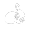 Simon Says Stamp PLUSH SPRINGTIME BUNNY Wafer Dies S365 Spring Plush