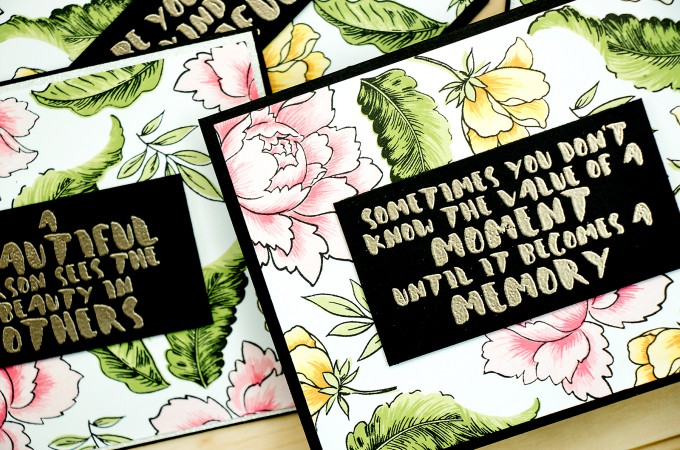 Altenew   Large Stamped Pattern for Multiple Cards. Video