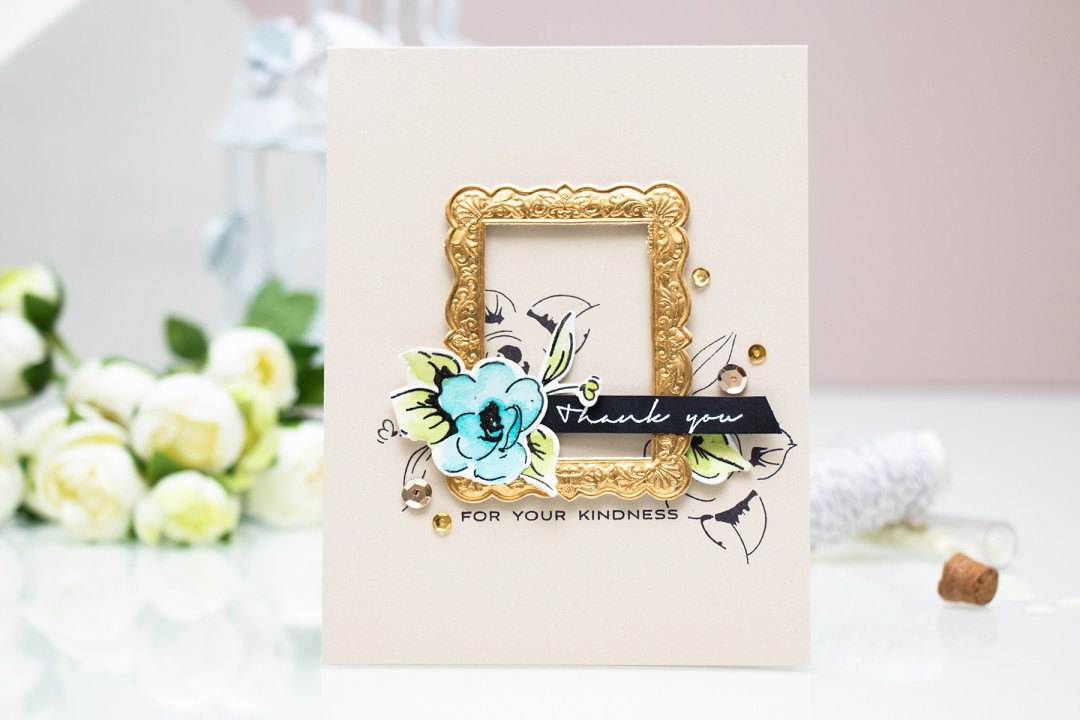 Altenew | Watercolor Painted Flowers Card by @yanasmakula