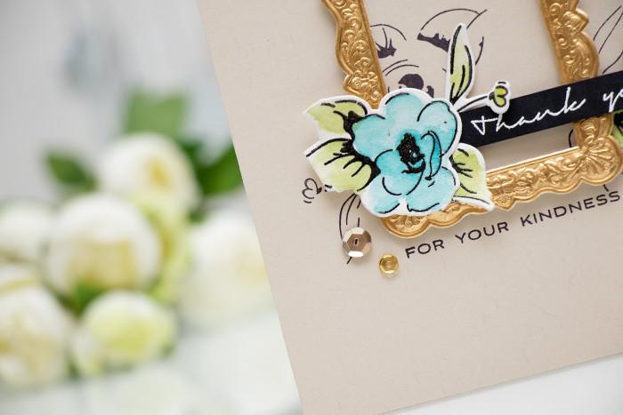 Altenew | Watercolor Painted Flowers Card by @yanasmakula