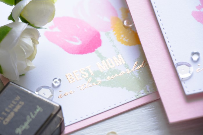 Altenew | Faux Painted Tulips Mother's Day Card by @yanasmakula