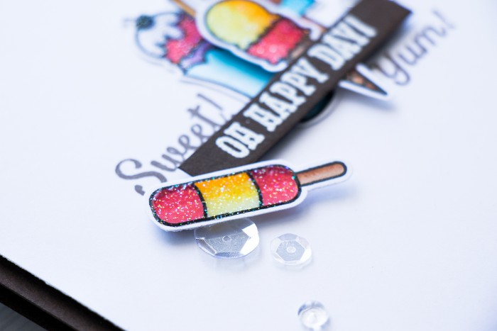 Hero Arts   Sweet Ice Cream Card using Hero Arts Oh Happy Day by Lia stamp set. Card created by @yanasmakula