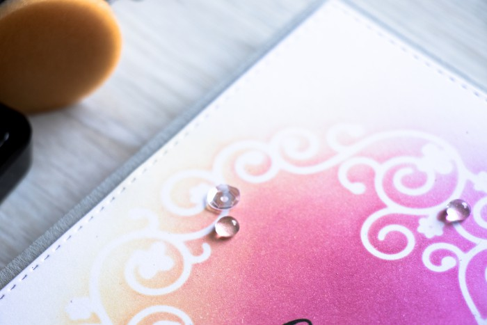 Simon Say Stamp | DIY Stencils using Dies. Two color ink blending