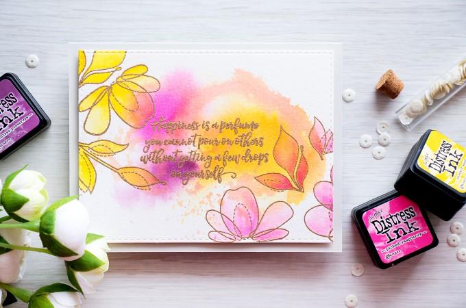 Simon Says Stamp   Simple Ink Smooshing and Watercoloring by @yanasmakula