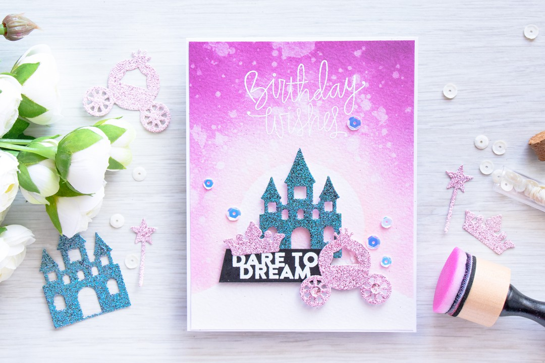 Spellbinders | DIY Glitter Die Cuts & Masking with Dies. Video