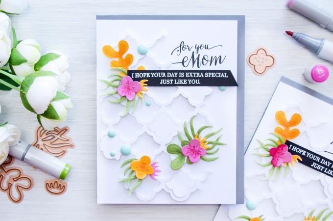 Spellbinders   Mother's Day Card with Succulent Garden Dies. Video