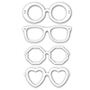 Simon Says Stamp SUNGLASSES Wafer Dies SetS236