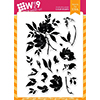 Wplus9 WATERCOLORED ANEMONES Clear Stamps CLWP9WA