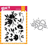 Wplus9 Watercolored Anemones Set Clear Stamp and Die Combo