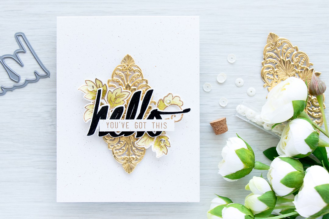 Altenew | Encouragement card with simple layers by Yana Smakula