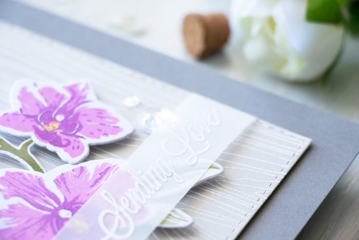 Hero Arts | Purple Orchids - Sending Love