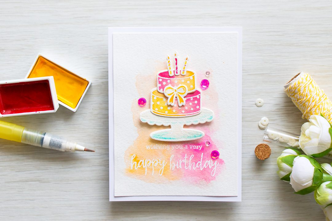 Hero Arts | Watercolor Birthday Cake