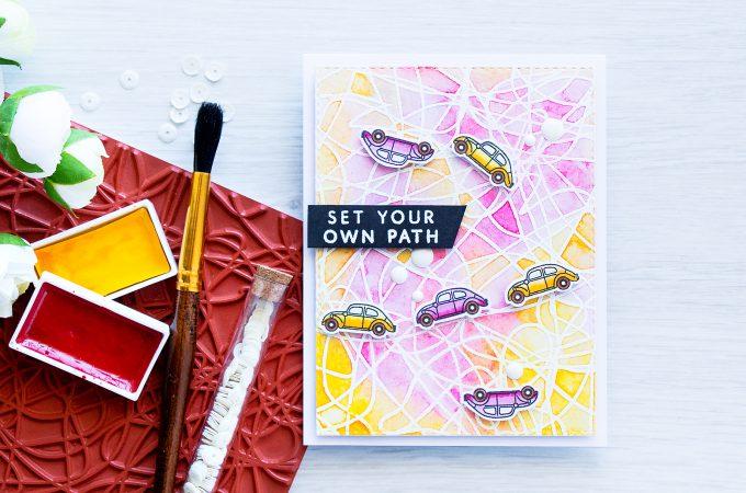 Hero Arts   Set Your Own Path Card by Yana Smakula