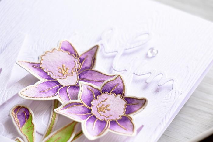 Simon Says Stamp | Purple Daffodils Birthday Card for Mom