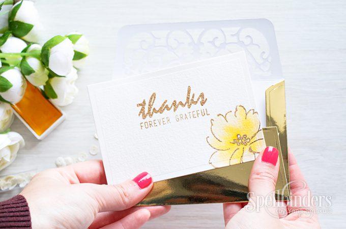 Spellbinders   Thank You Envelope. Video