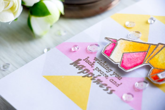 Altenew | Watercolor Origami Card by Yana Smakula
