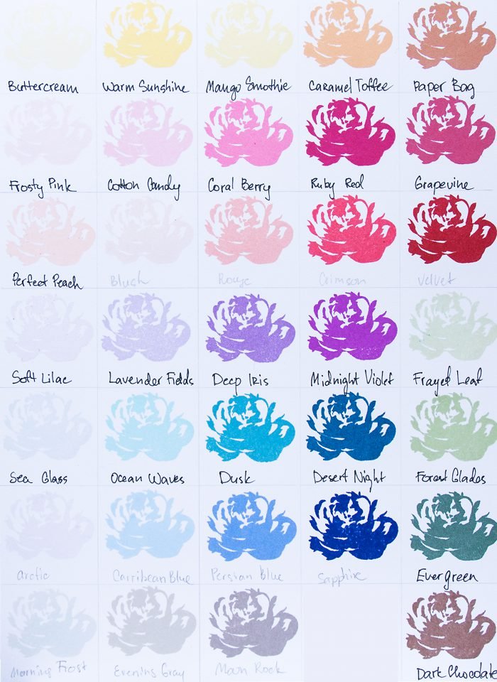 Altenew   Ink Colors + Color Combos Chart