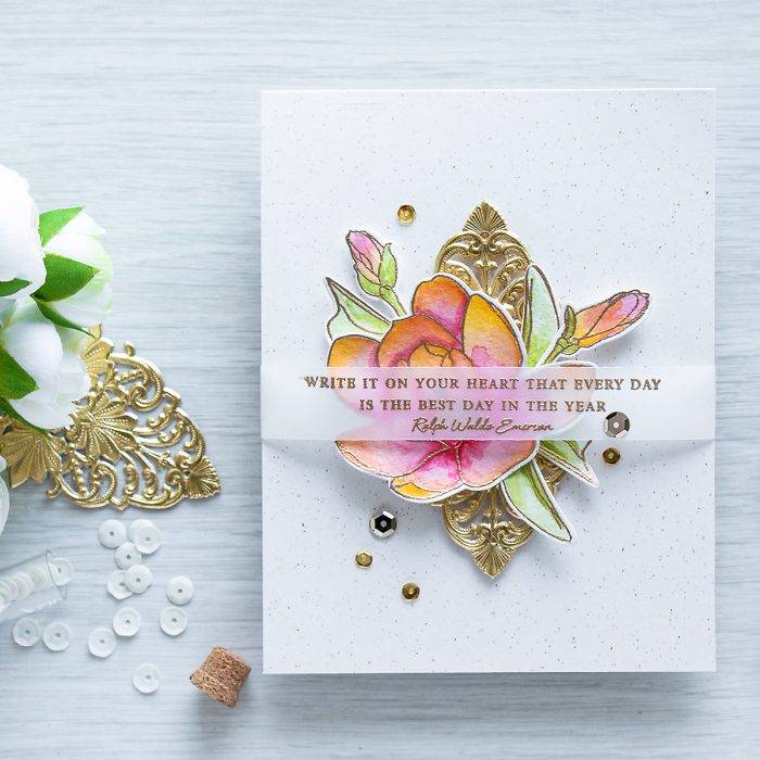 Wonderful Quotes Usi Comg Flowers: Every Day Is The Best Day In The Year Card Using